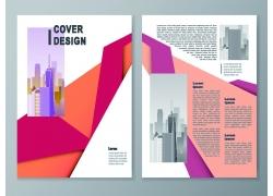 彩色折页传单设计图片