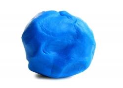 一团蓝色橡皮泥