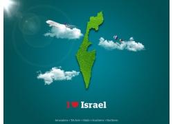 以色列绿色地图