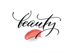 粉色化妆品商标设计