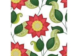 复古花朵设计素材