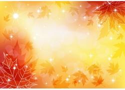 秋季促销海报背景