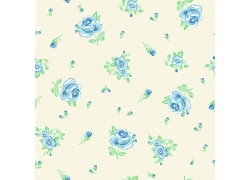 水彩花朵无缝背景