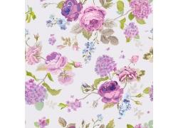 花朵无缝背景设计素材