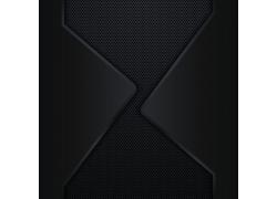 黑色金属背景边框