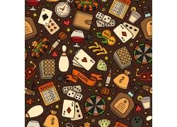赌博图案背景设计素材