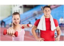 健身运动的生活人物图片