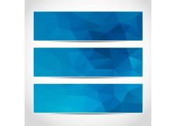 蓝色三角形横幅设计