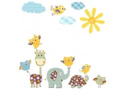 矢量动物背景图片