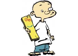 可爱小男孩卡通图案图片