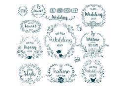 婚礼贺卡装饰花纹
