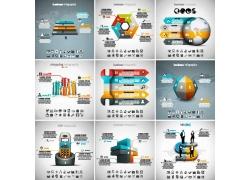 立体彩色商务图表