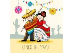 墨西哥节日可爱卡通漫画