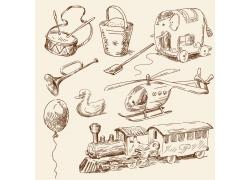 儿童玩具绘画