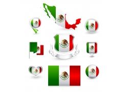 墨西哥国旗标签