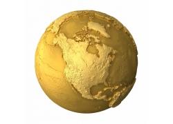 立体金色地球