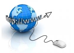 鼠标互联网地球