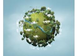 绿色生态环保地球