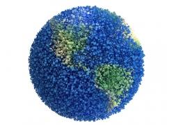 蓝色粒子地球