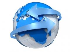 蓝色箭头地球