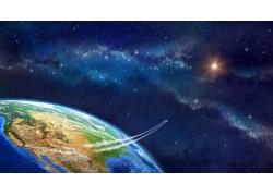 流星星光地球