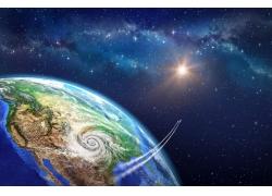 外空的地球