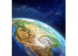 外太空地球