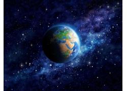 蓝色星星和星球