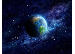 美丽天空中的星球