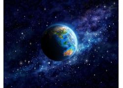 天空中间的星球