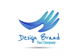 蓝色翅膀logo