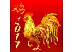 鸡年喜庆背景设计