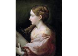 性感的美女油画