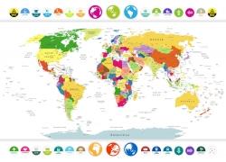 彩色地图标签图片