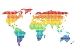 彩色马赛克地图
