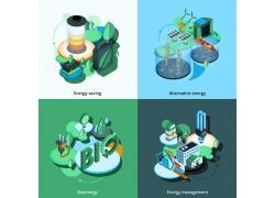 立体生态环保背景图片