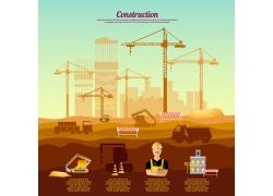 建筑施工图案图标设计
