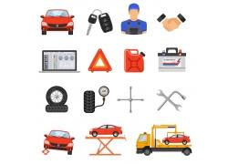 汽车维修图标设计
