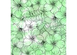 绿色花朵图案背景