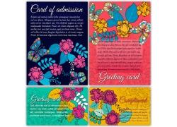 蝴蝶花卉图案背景