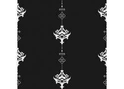 黑色背景植物花纹