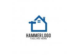 榔头房子logo设计