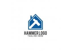 房子榔头logo设计
