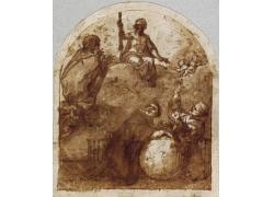 西班牙普拉多美术馆素描 (299)