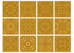金色植物花纹底纹背景