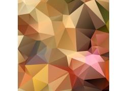 黄色立体三角形背景