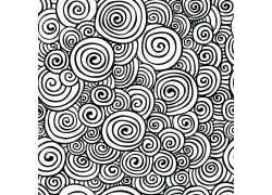 黑白旋转抽象背景