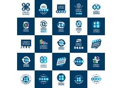 蓝色商务金融标志