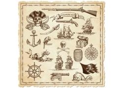 复古海盗标签