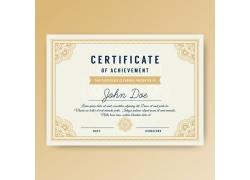 黄色英文证书模板